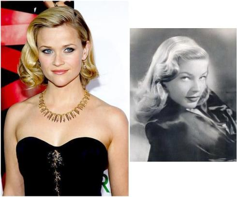Reese Witherspoon, 1940s wavy hairstyle