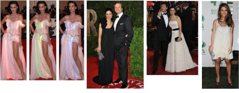 Celebrities wearing environmentally friendly clothes on the red carpet