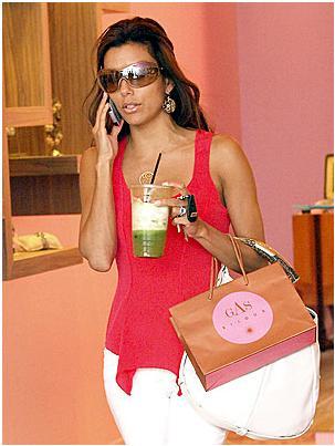 Eva Longoria shopping for jewelry at GAS bijoux