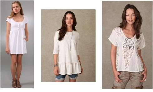 White Pieces from Free People