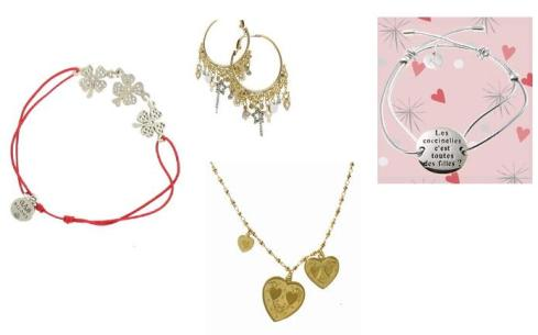 Bracelets, necklace, and earrings by GAS bijoux