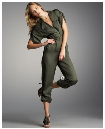 Green jumpsuit by Madison Marcus