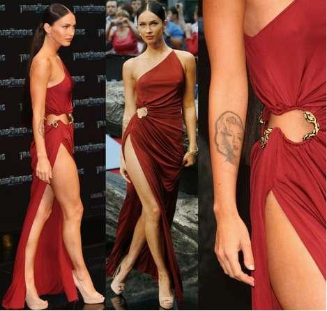 Red dress and Megan Fox