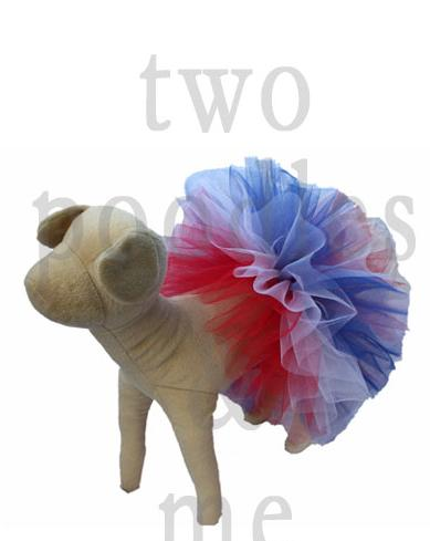 poodle red white and blue tutu