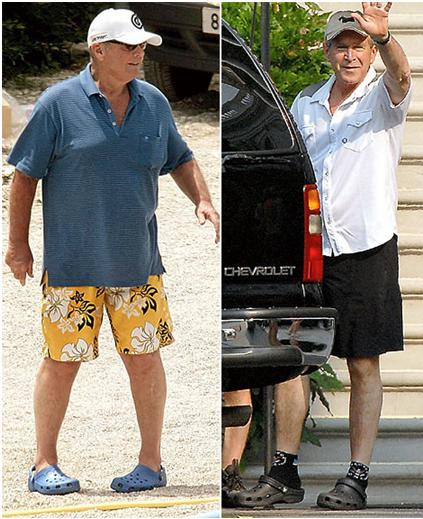 george bush and jack nicholson in crocs