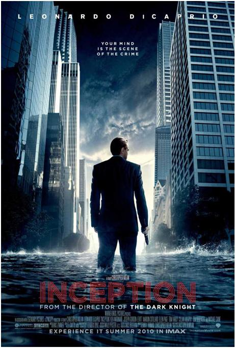 leo dicaprio, inception movie poster